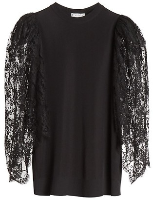 Givenchy Oversized Lace-Sleeve Top
