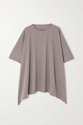 Rick Owens Minerva Oversized Cotton-jersey T-shirt - Light gray