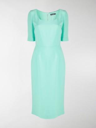 Dolce & Gabbana U-Neck Fitted Midi Dress