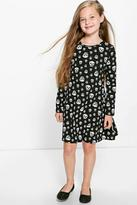 Boohoo Girls Skull Print Swing Dress