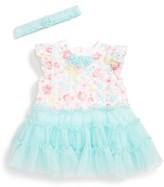 Little Me Infant Girl's Rosette Tutu Dress & Headband Set