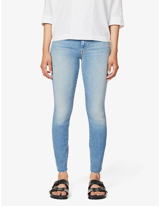 Mother The Looker frayed-hem high-rise jeans