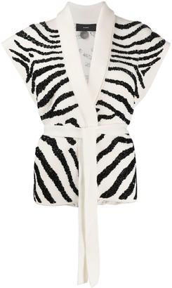 Alanui Zebra Embroidered Knit Gilet