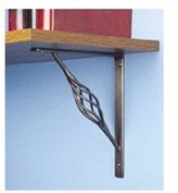 "Stanley Tools 250593 7"" X 8"" Rustic Decorative Shelf Bracket, Black"