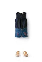 Country Road Embroidered Denim Short