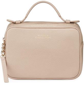 Versace Saffiano Top-Zip Shoulder Bag, Sand