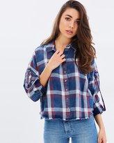 Only Aysun Check Denim Shirt