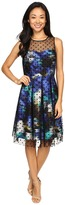 Christin Michaels Toni Polka Dot Overlay Dress