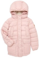 Save The Duck Little Girl's & Girl's Long Faux Shearling Lined Puffer Parka