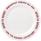 Kate Spade All in Good Taste Order's Up 24 Hours Accent Plate