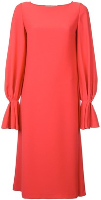 Carolina Herrera Long-Sleeved Loose Dress