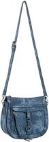 Denim Saddle Top-Zip Crossbody Bag