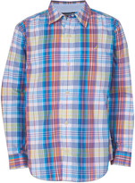 Nautica Boys' Button Down Shirts LIME - Lime Punch Plaid Mauricio Button-Up - Toddler & Boys