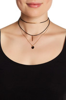 Stephan & Co 3 Row Layered Cord Choker
