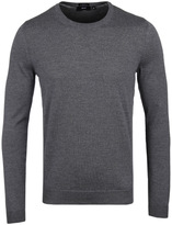 Boss Leno Grey Marl Extra Fine Merino Sweater