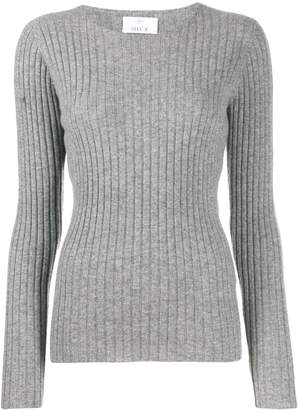 Allude long sleeve ribbed jumper