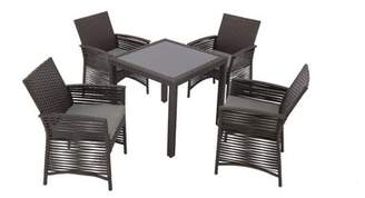 Bronx Ivy Ringgold Backyard 5 Piece Dining Set with Cushions Ivy Color: Chocolate