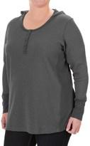 Columbia Weekday Waffle Henley Hoodie Shirt - Long Sleeve (For Plus Size Women)