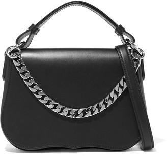 Calvin Klein Chain-trimmed Fringed Leather Shoulder Bag