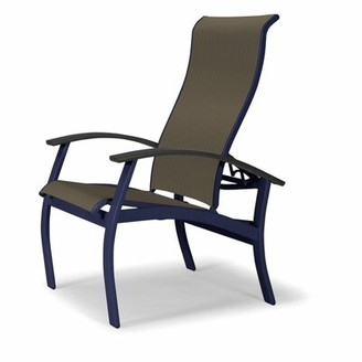 Telescope Casual Belle Isle Patio Dining Chair Telescope Casual Seat Color: Alloy, Frame Color: Beachwood