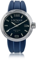 Locman One Stainless Steel Chronograph Men's Watch w/Leather and Silicone Band Set
