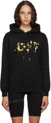 Off-White Black and Yellow Flower Hoodie