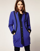 Asos Quilted Ovoid Coat