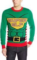 Alex Stevens Men's Super Elf Ugly Christmas Sweater