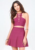 Bebe Strappy Bandage Crop Top