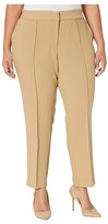Vince Camuto Specialty Size Plus Size Bi-Stretch Crepe Pin Tuck Skinny Pants (Latte) Women's Casual Pants