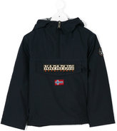 Napapjiri Kids hooded front pocket jacket