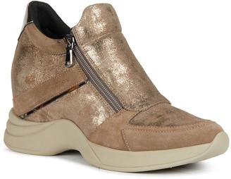 Geox Armonica Tonal Side-Zip Wedge Sneakers