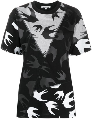 McQ Swallow bird print panelled T-shirt