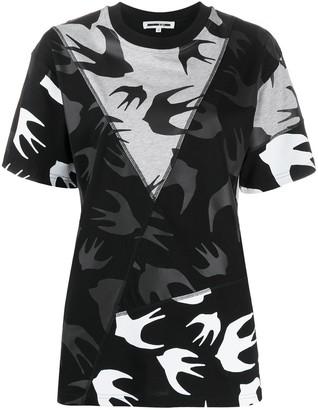Mcq Swallow bird print panelled T-shirt