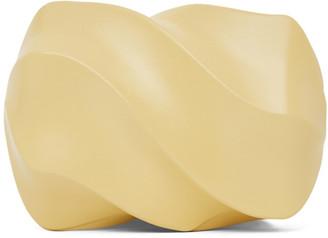 Bottega Veneta Yellow Whirl Spiral Clutch