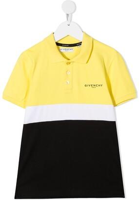 Givenchy Kids Colour Block Polo Shirt