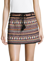 Antik Batik Women's Sancha Cotton Embroidered Mini Skirt