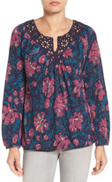 Lucky Brand Katie Floral Peasant Blouse