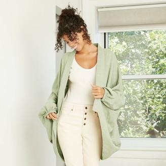 Universal Thread Women's Plaid Woven Overcoat Cocoon Jacket - Universal ThreadTM
