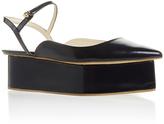 DELPOZO Dark Azurite Blue Wedge Shoe