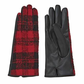 Mud Pie Women's Plaid Winter Gloves