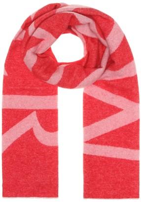Moncler Logo wool-blend scarf