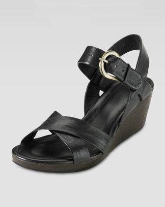 Cole Haan Air Tali Low Wedge Sandal, Black
