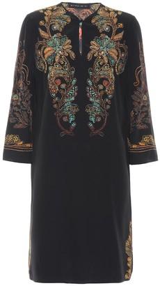 Etro Printed silk tunic dress