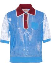 N°21 N21 Sheer Short Sleeve Top