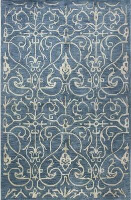 "Alcott Hillâ® Milbourn Handmade Tufted Azure Rug Alcott HillA Rug Size: Rectangle 7'9"" x 9'9"""