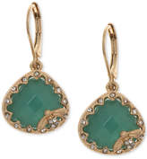 lonna & lilly Gold-Tone Pave & Colored Stone Bee Drop Earrings
