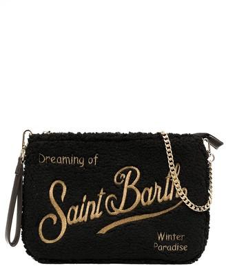MC2 Saint Barth Textured Embroidered-Logo Bag