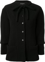 Chanel Pre Owned 1998 tie-neck jacket
