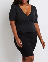 Charlotte Russe Plus Size Wrapped Surplice Top